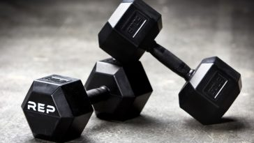 REP Rubber Grip Hex Dumbbell Pairs