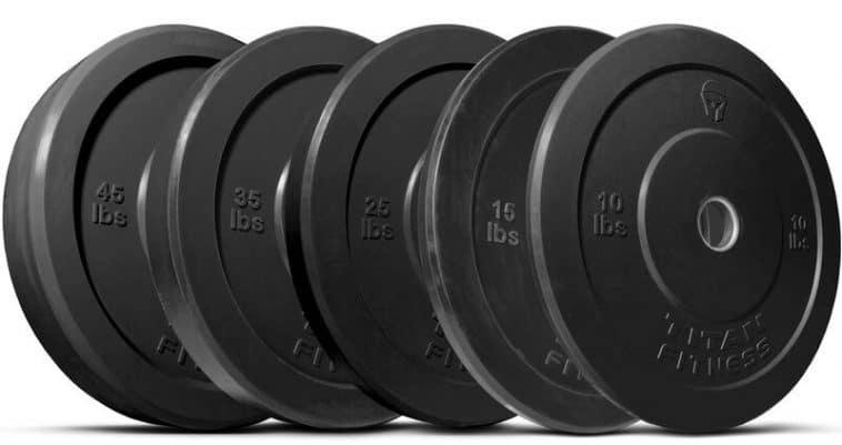 Titan Economy Black Bumper Plates