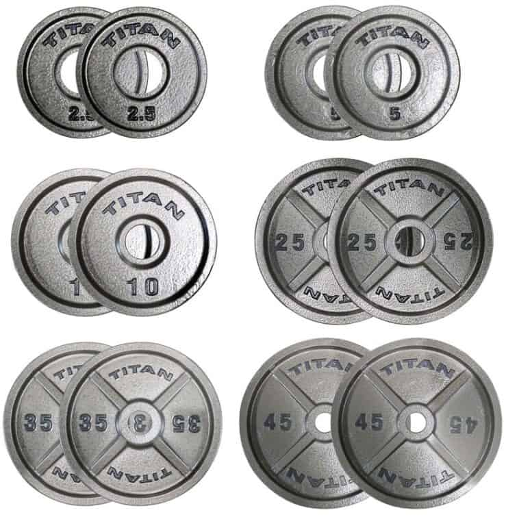 Titan Fitness Cat Iron Olympic Plates