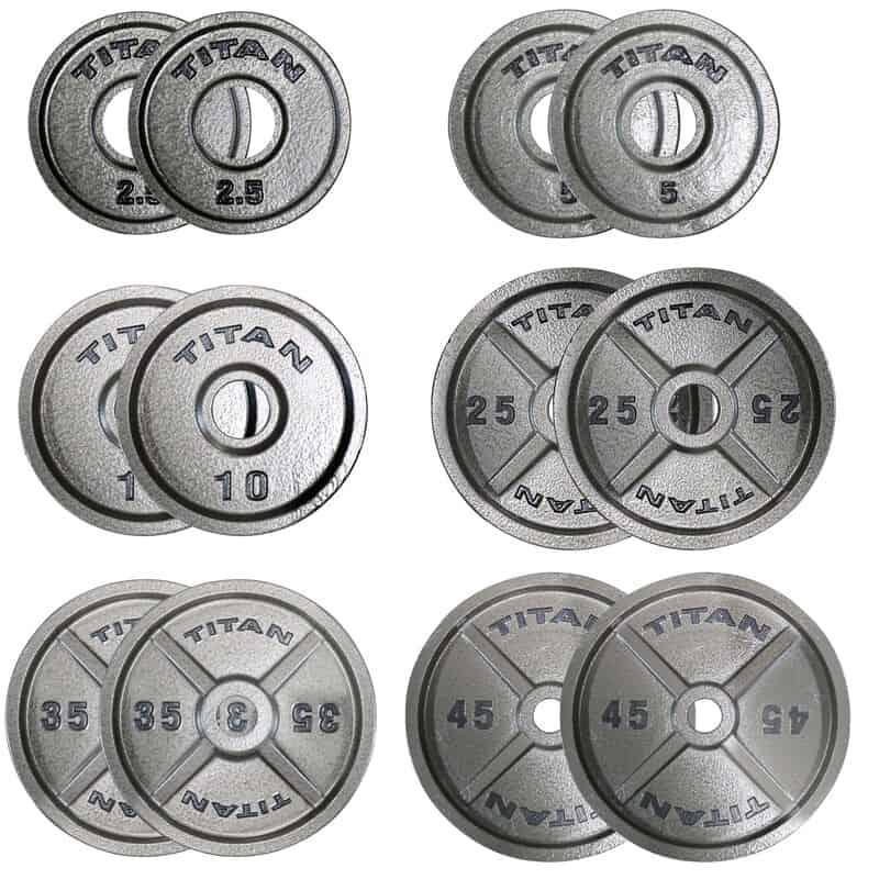 Titan Fitness Cat Iron Olympic Plates