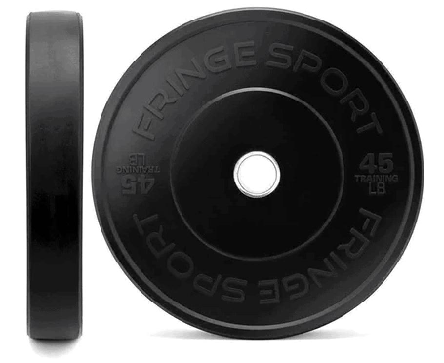 Fringe Sport Black Bumper Plates