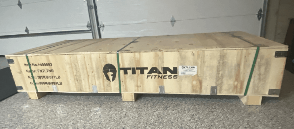 Titan Fitness Functional Trainer Shipping Crate