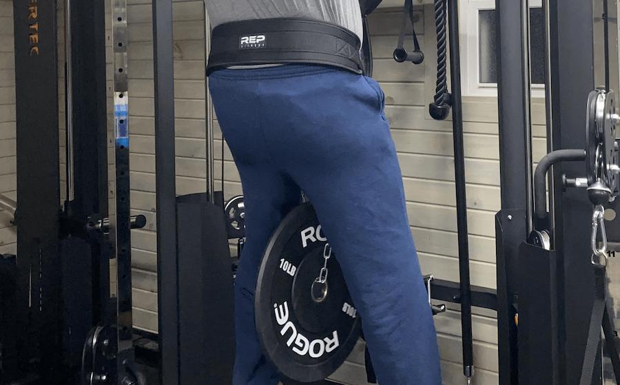 Rep Dip Belt In Use