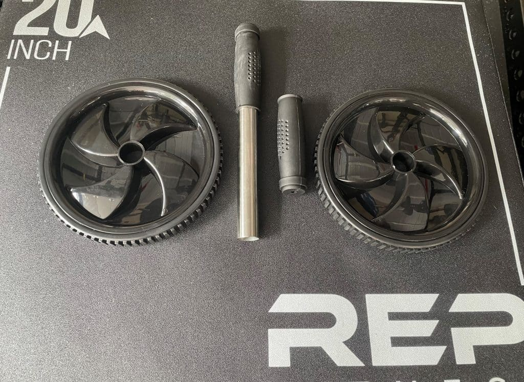 Rep Fitness Ab Roller Wheel Before Putting it together